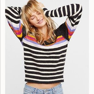 Free People Complete me Stripped Sweater